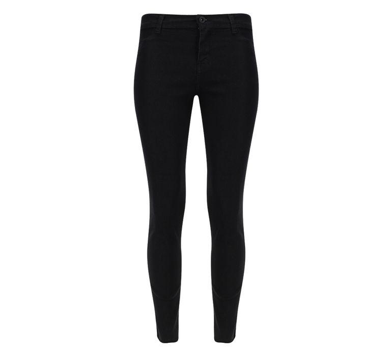 Pantalon Mujer Dril Desflecado Negro Facol