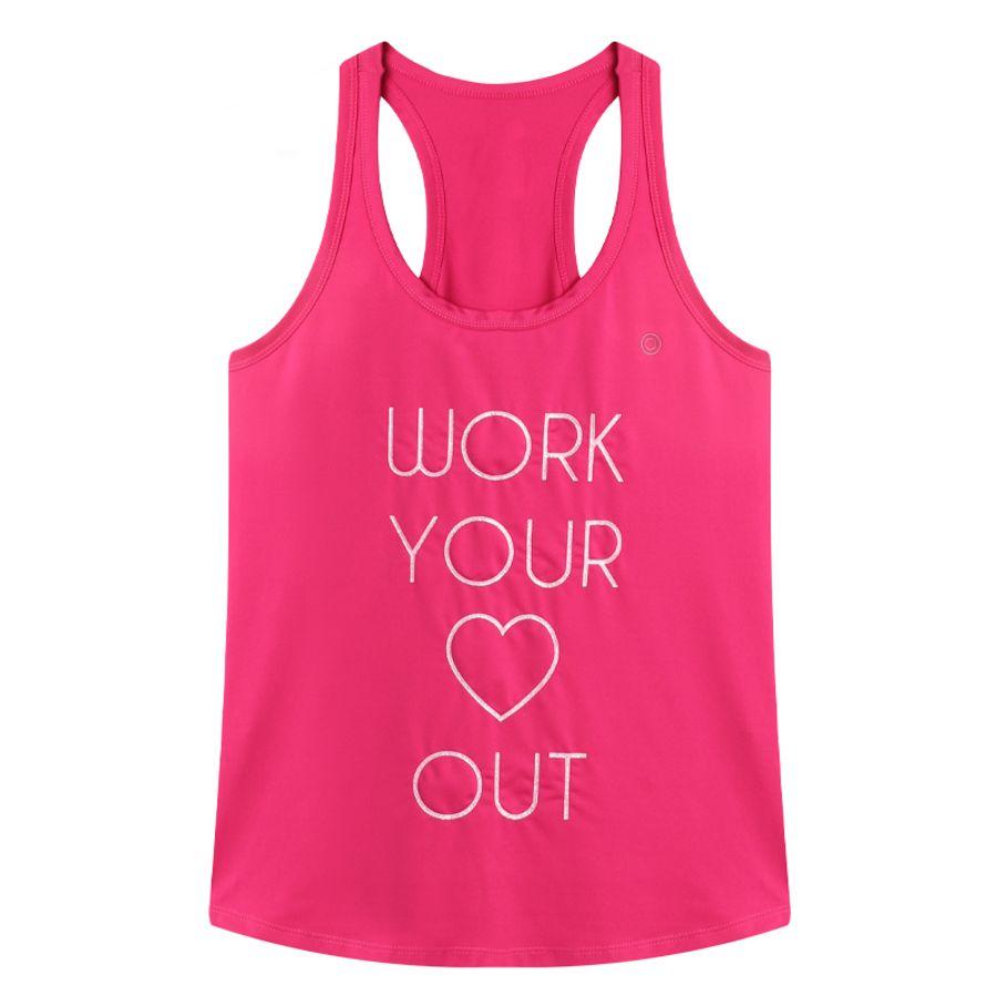 Camiseta Deportiva Mujer Work Color Rosado, Talla XS