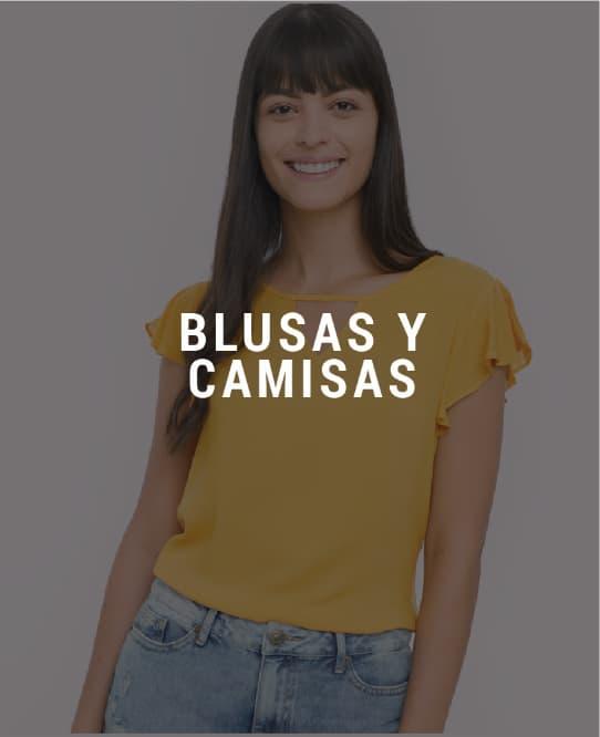 Camisas y blusas de mujer descuento banner home - desktop