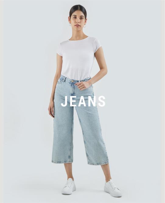 Jeans de mujer descuento banner home - desktop