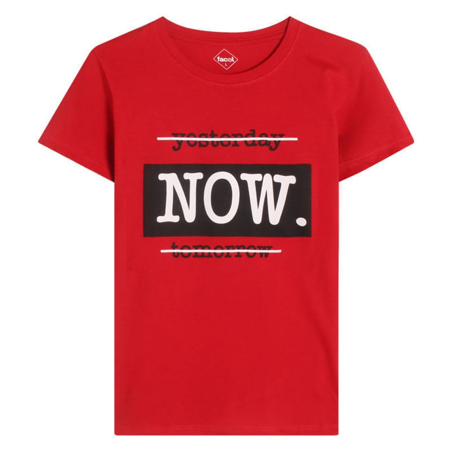 Camiseta Mujer Now Color Rojo, TallaL