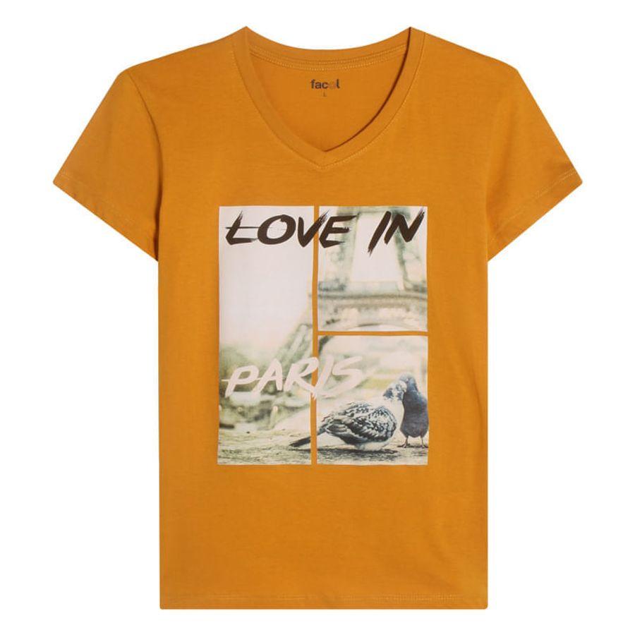 Camiseta Mujer Love Color Amarillo, Talla L