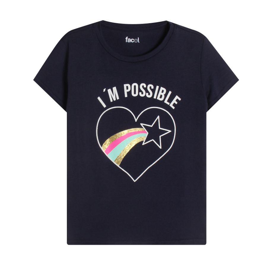 Camiseta M/C Im Possible Color Azul, Talla 10