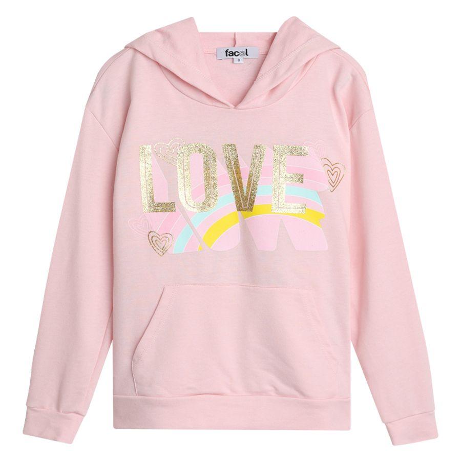 Buzo Hoodie Niña Love Color Rosado, Talla 10