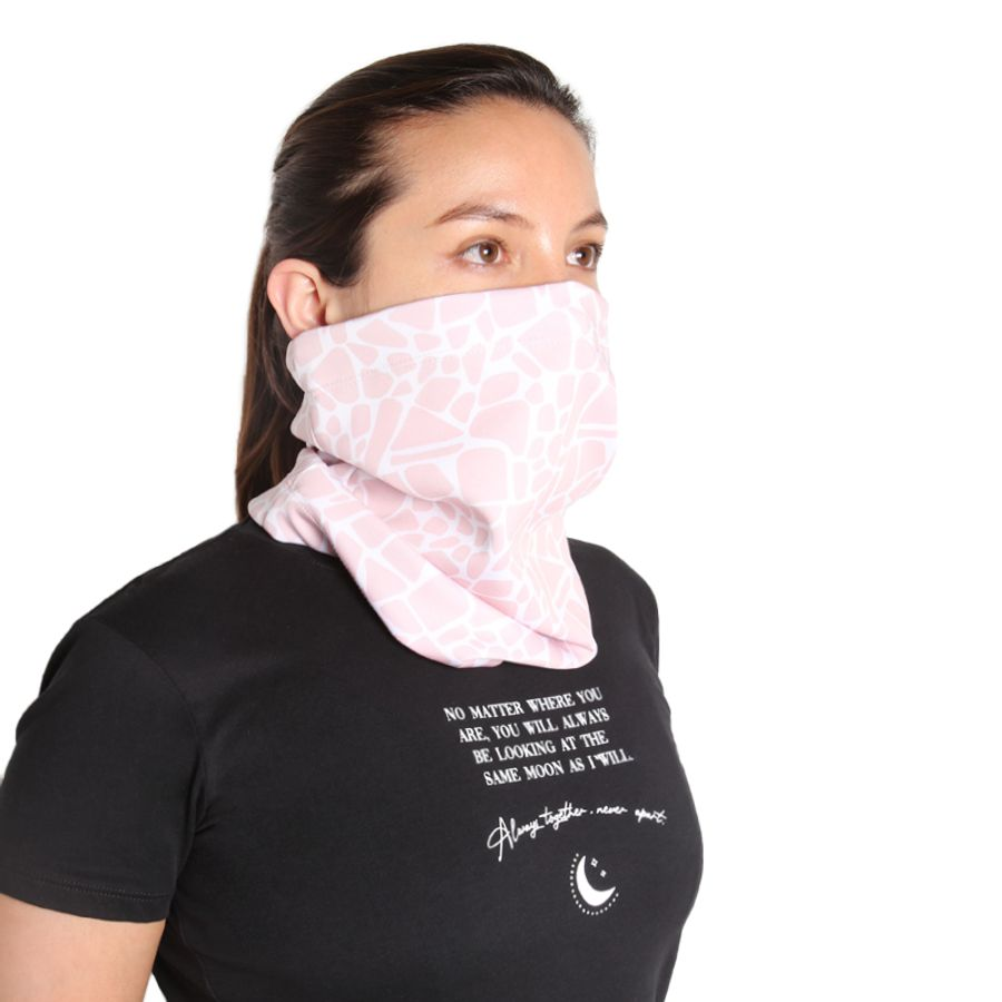 Bufanda Proteccion Estampado Mini Print Color Rosado, Talla M
