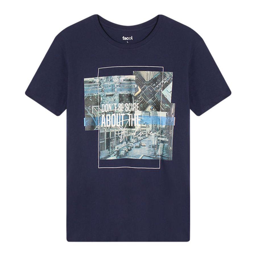 Camiseta Hombre Scare Color Azul, Talla L