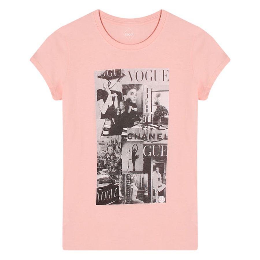 Camiseta Mujer Vogue Color Rosado, Talla L
