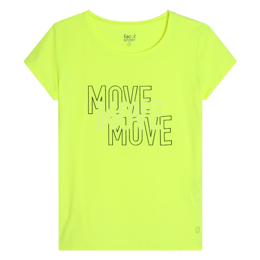 Camiseta Sport Mujer Move Color Azul, Talla S