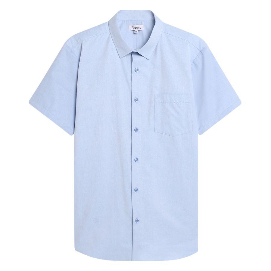 Camisa M/C Unicolor Color Azul, Talla L