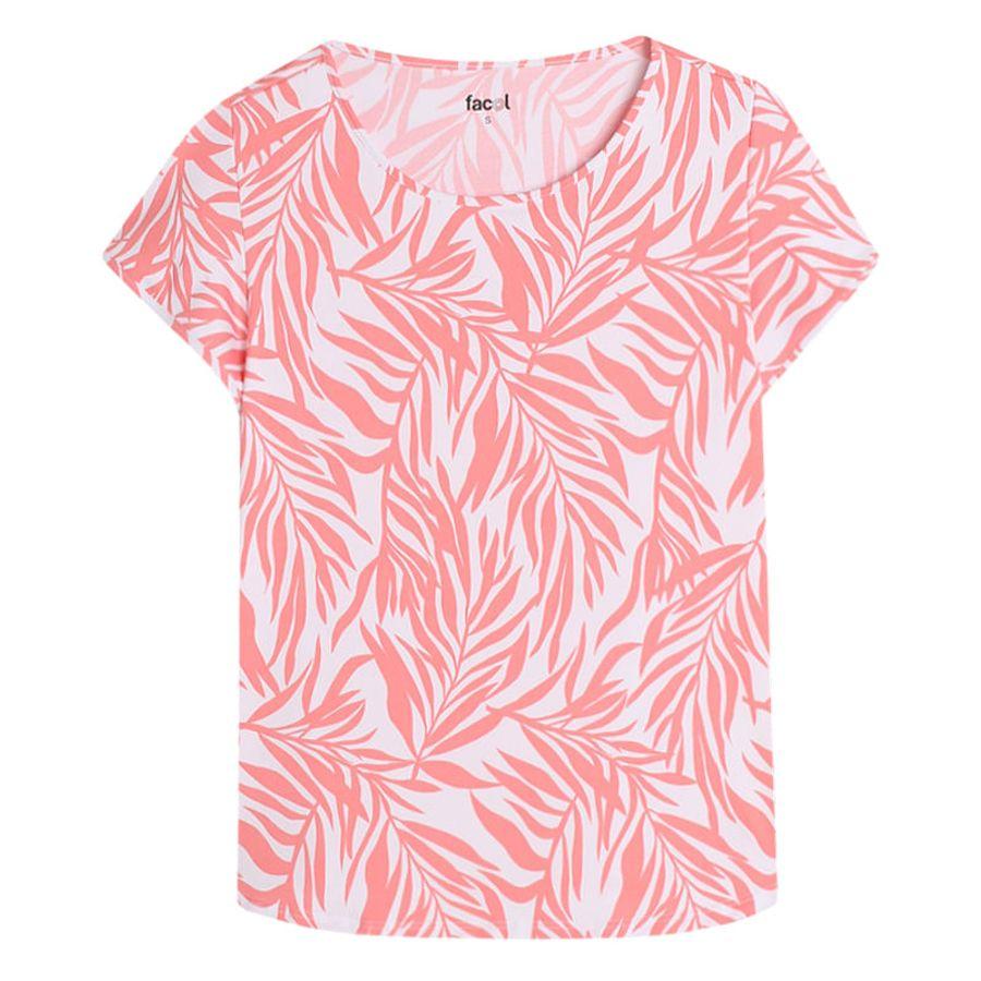 Camiseta M/C Color Curuba Con Estampado Color Naranja, Talla L