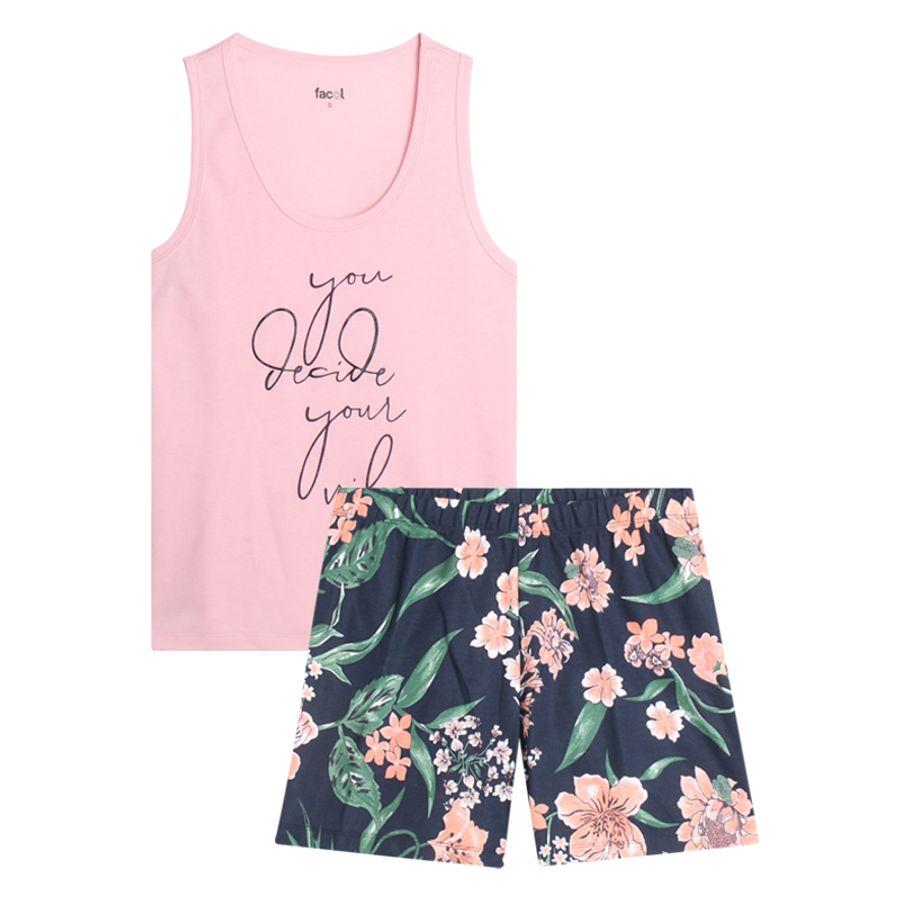 Pijama Mujer You Decide You Vibe Color Rosado, Talla M