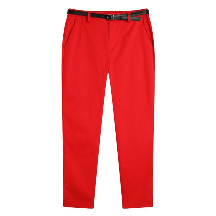 Pantalón Chino Mujer Color Rojo, Talla 6