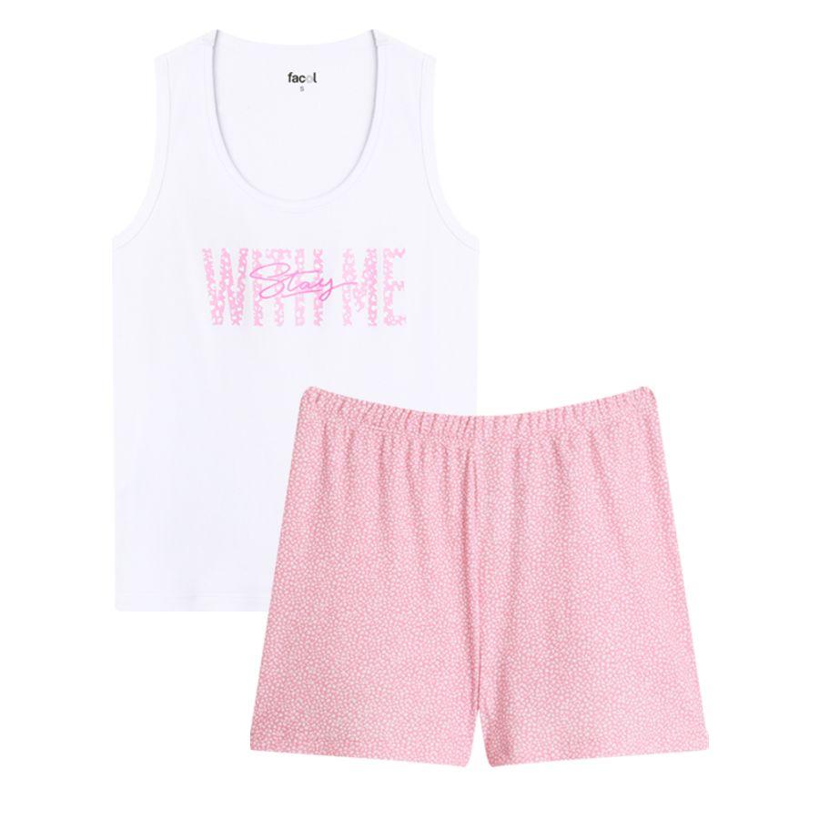 Pijama Con Screen Whith Me Color Blanco, Talla L