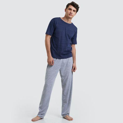 Pijama Estampada Para Hombre Color Gris, Talla S