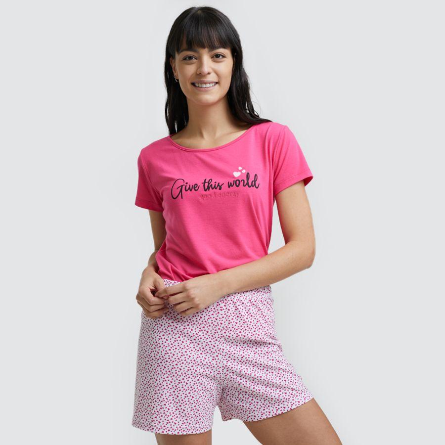 Pijama Mujer World Color Rosado, Talla L