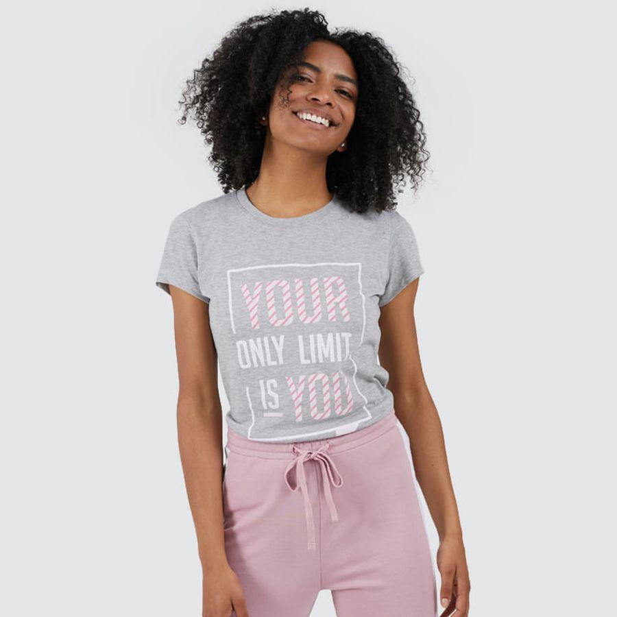 Camiseta Limit Mujer Color Gris, Talla L