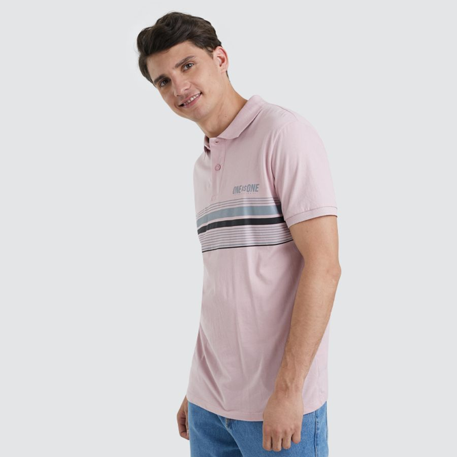 Polo Hombre One As One Color Rosado, Talla L