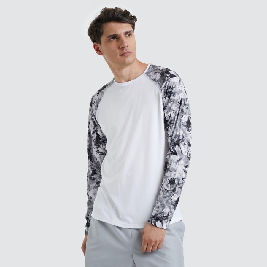Camiseta Sport Hombre M/L Color Blanco, Talla L