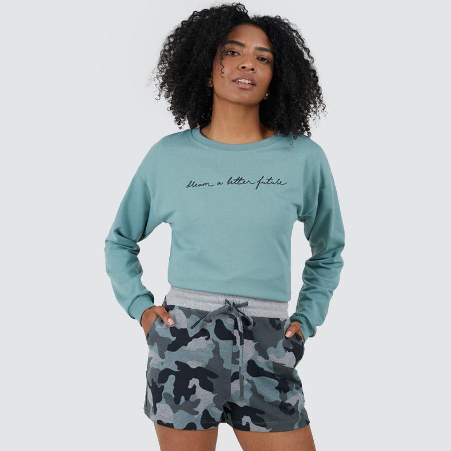 Short Mujer Camuflado Color Gris, Talla 6