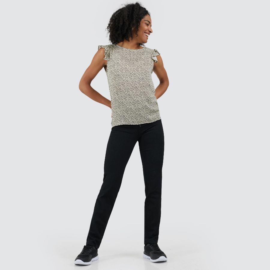 Jean Mujer Regular Negro Color Negro, Talla 10