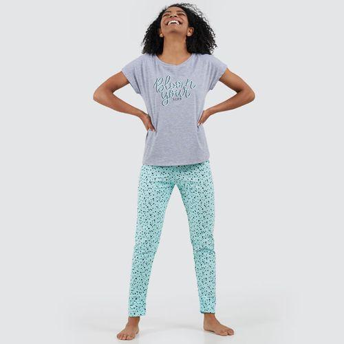 Pantalon Para Mujer Estrellas Color Blanco, Talla L