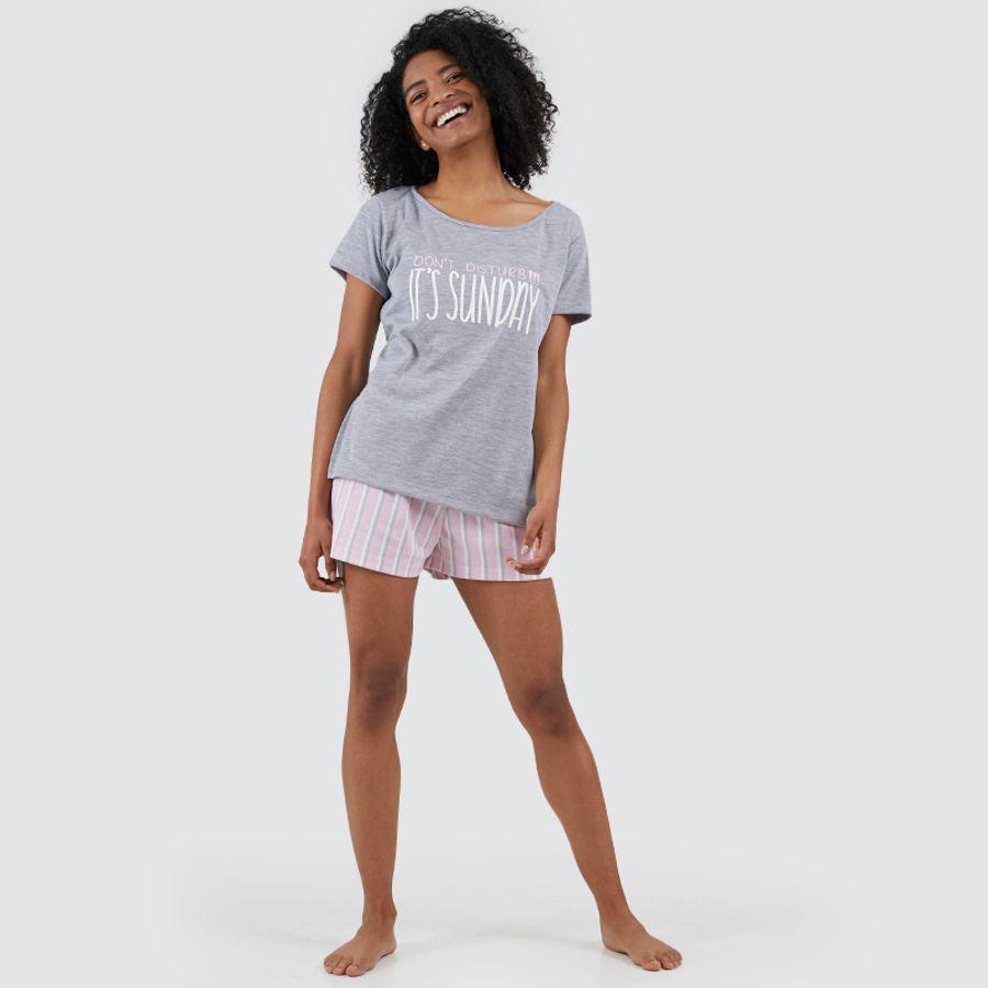Pijama Para Mujer Sunday Color Gris, Talla L