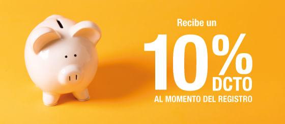 10% de Dcto Registro Newsletter
